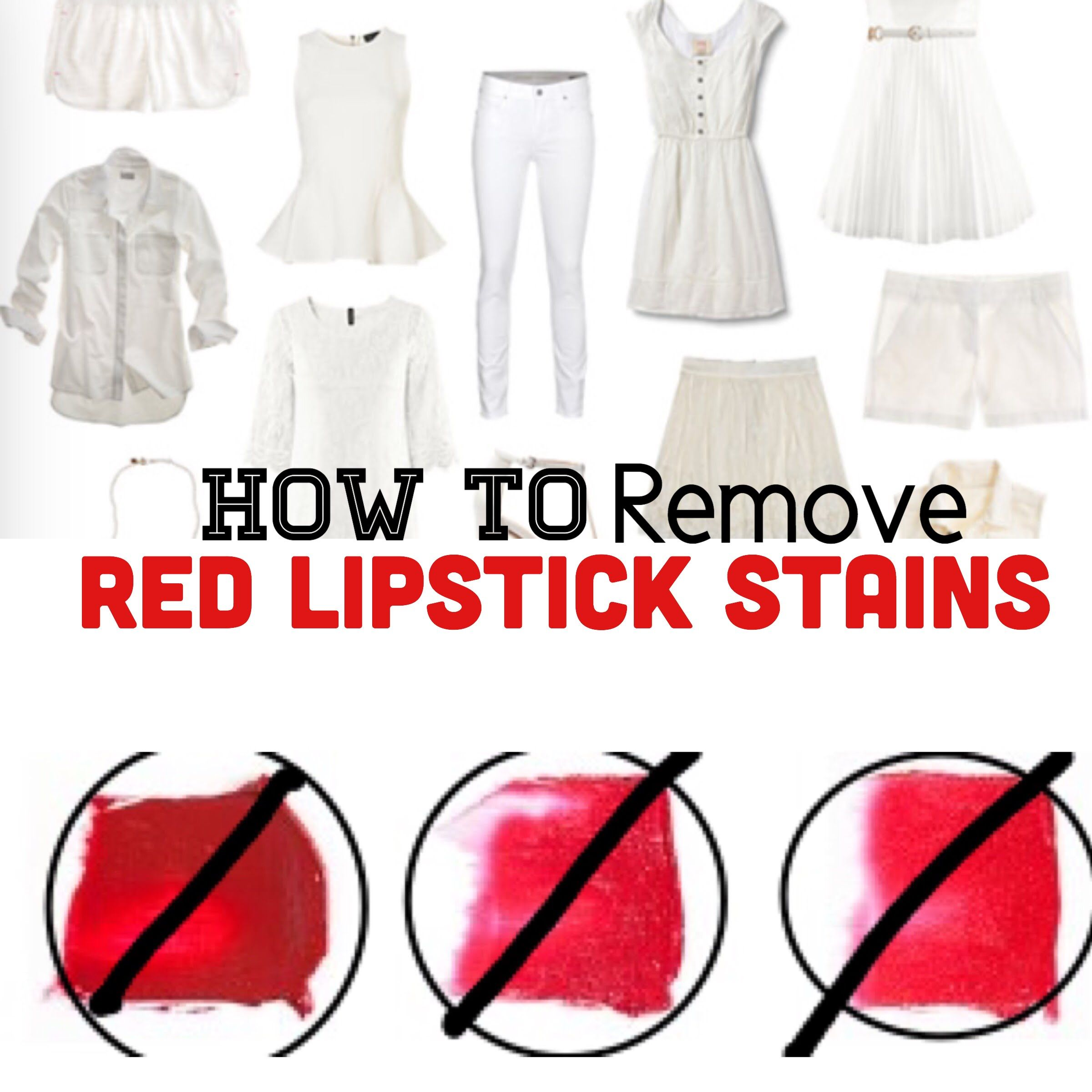 How To Remove Lipstick Stains From Clothing! Lipstick