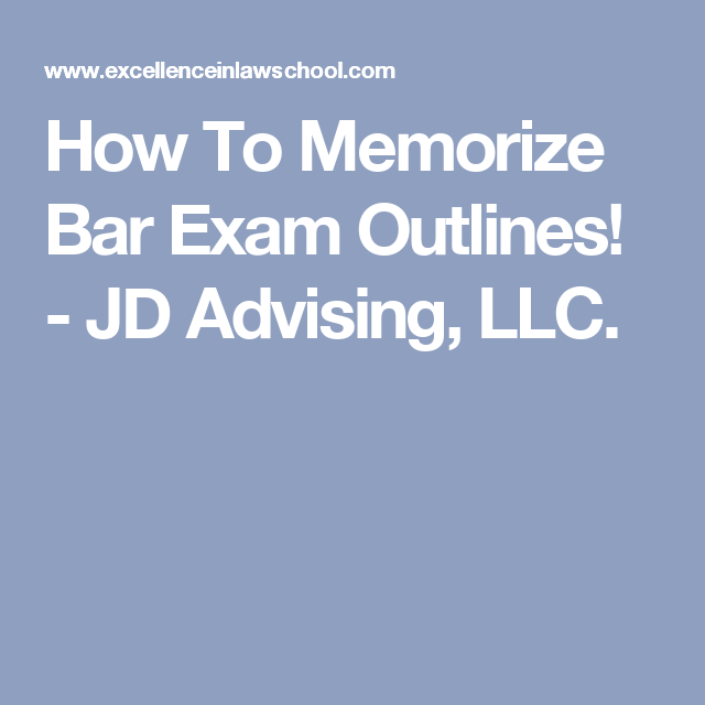 How To Memorize Bar Exam Outlines! | law school | Teaching