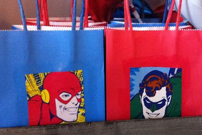 Well look who's come to visit! Bright and Colorful Paper Bags from www.discountshoppingbags.com