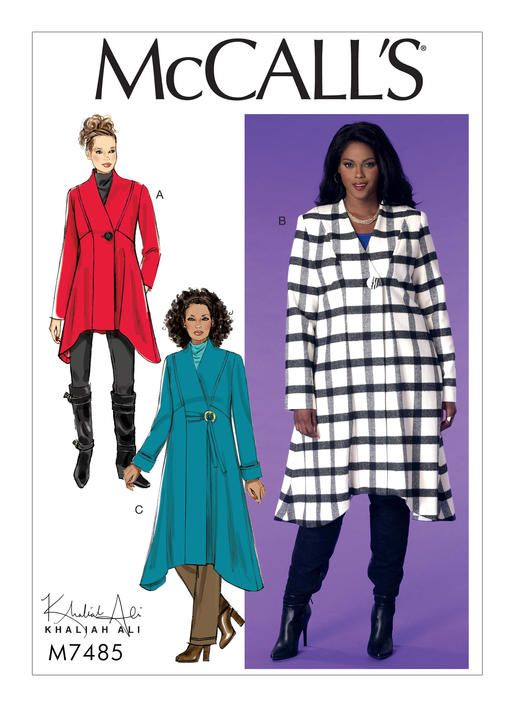 M7485 Mccall S Patterns Coat Pattern Sewing Plus Size Sewing