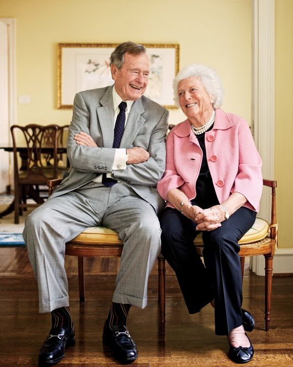 George H.W. & Barbara Bush photographed at their home by Jody Horton
