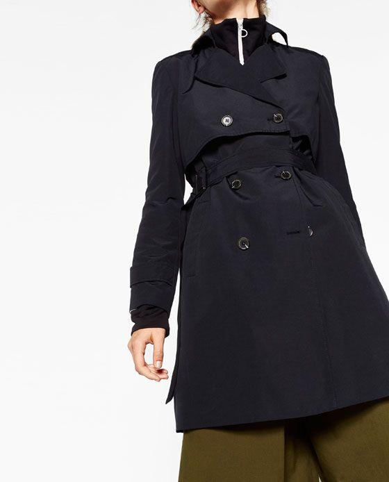 Image 3 of SHORT TRENCH COAT from Zara | Short trench coat ...