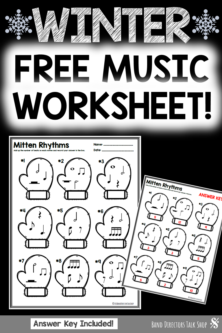 Music Worksheet Winter Rhythm Free Winter Music