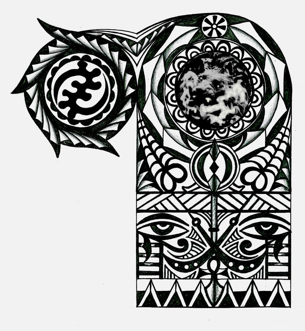 Adinkra African Warrior Tribal Half Sleeve Tattoo Tattoo African