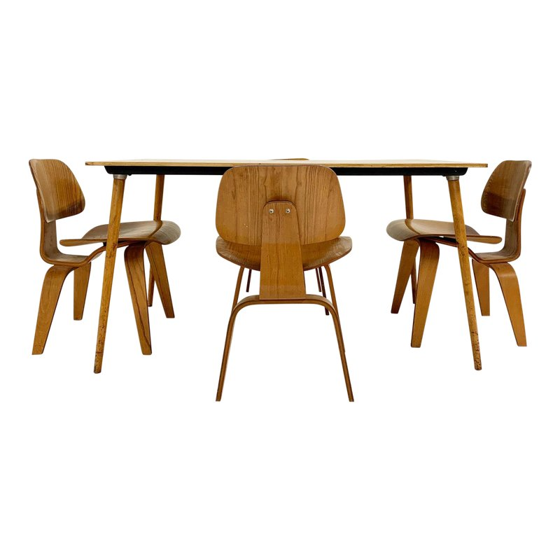 1950s Charles And Ray Eames For Herman Miller Dtw 3 Table