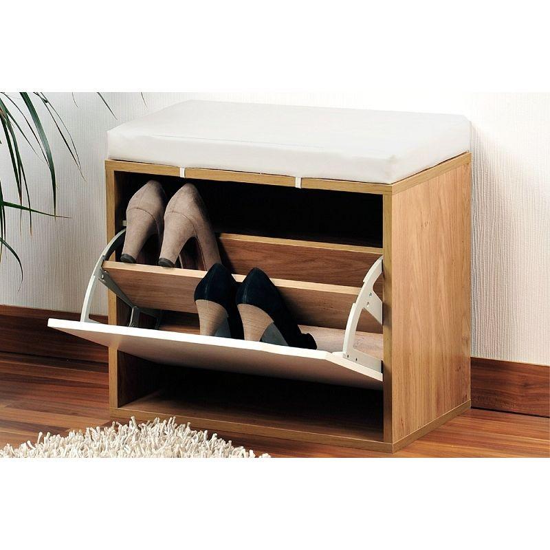 banc chaussures avec coussin rangement pour chaussures d 39 entr e hall pinterest. Black Bedroom Furniture Sets. Home Design Ideas
