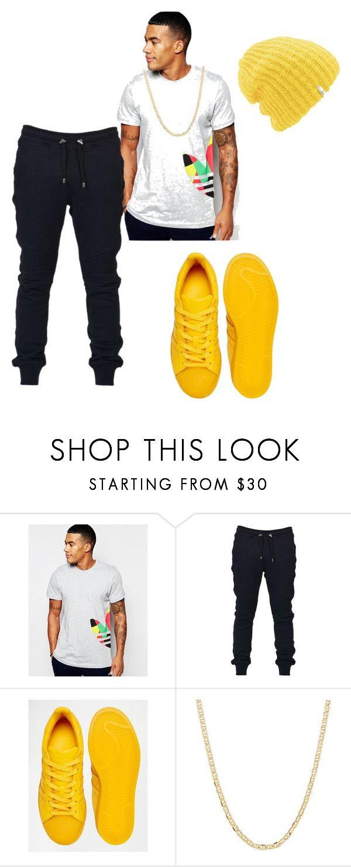 """Untitled #3014"" by styledbycharlieb ❤ liked on Polyvore featuring adidas Originals, Balmain, adidas, Fremada and Coal"