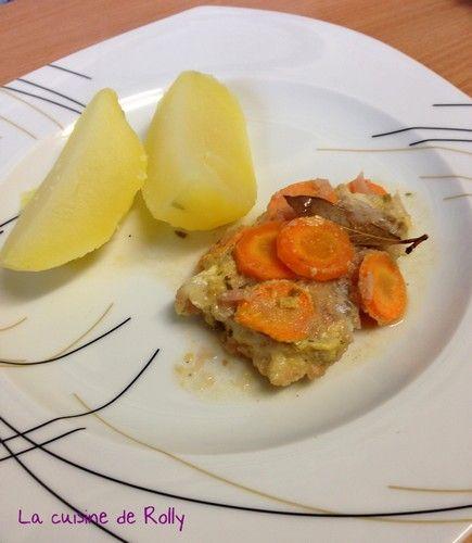 Poisson sauce au vin blanc et carottes