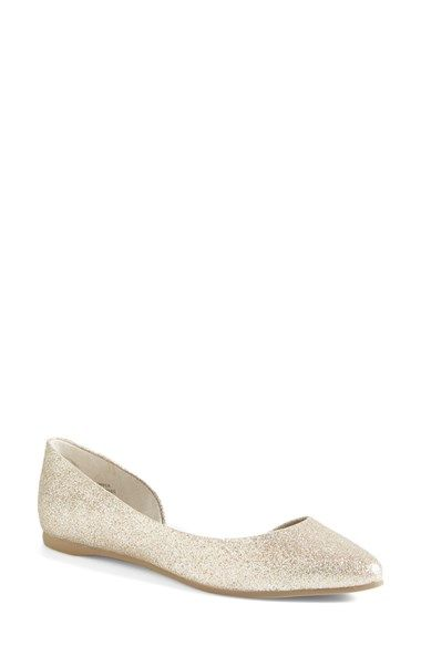7d8b7e9a5b8c Cutout Flat (Women) at Nordstrom.com. Sparkle and shine in a sleek half d'Orsay  flat with an on-trend pointy toe that's fit for a princess. $49.95