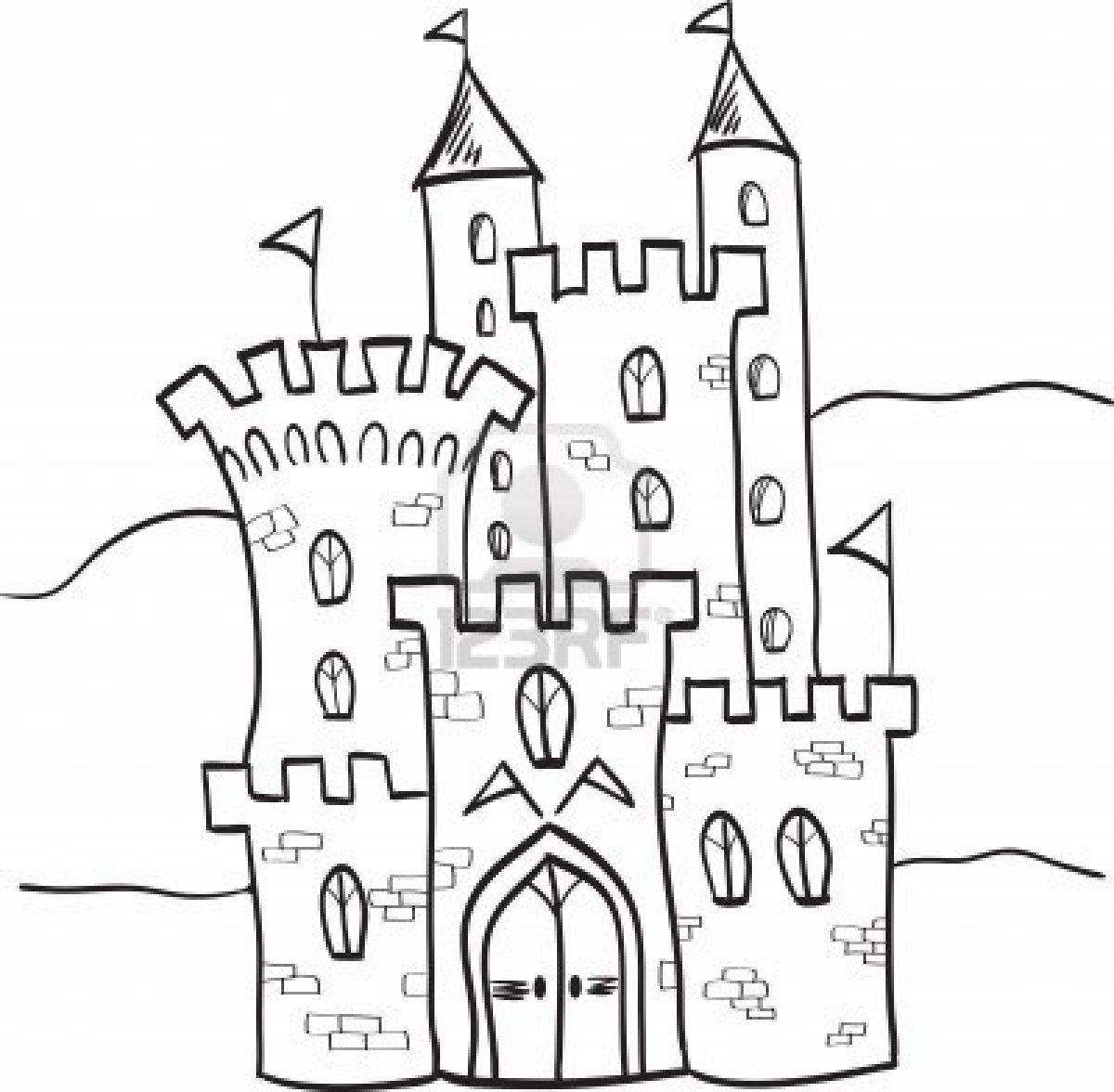 Illustration Of Fairytale Castle Kingdom Cartoon Style Castle Illustration Fairytale Castle Cartoon Styles