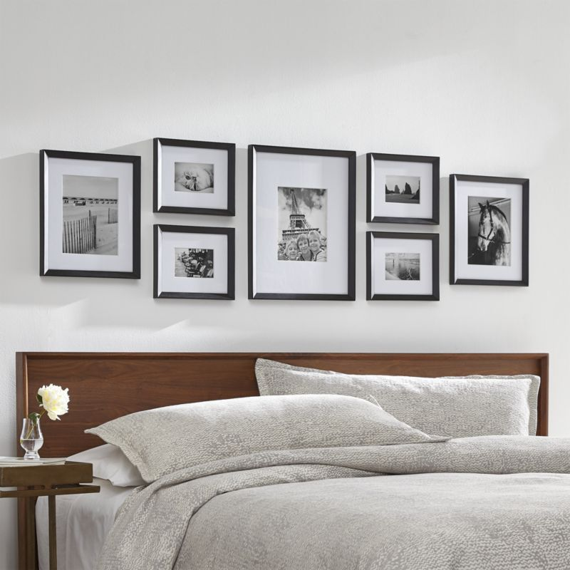 Icon Black Frame Gallery Set Of 7 Reviews Crate And Barrel In 2020 Gallery Wall Bedroom Frames On Wall Bedroom Wall