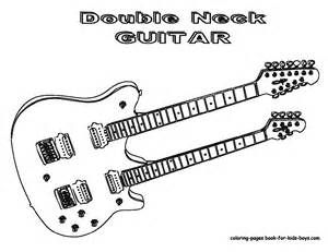 Grand Guitar Coloring Guitars Free Electric Guitar Instrument Coloring Pages Music Coloring Color