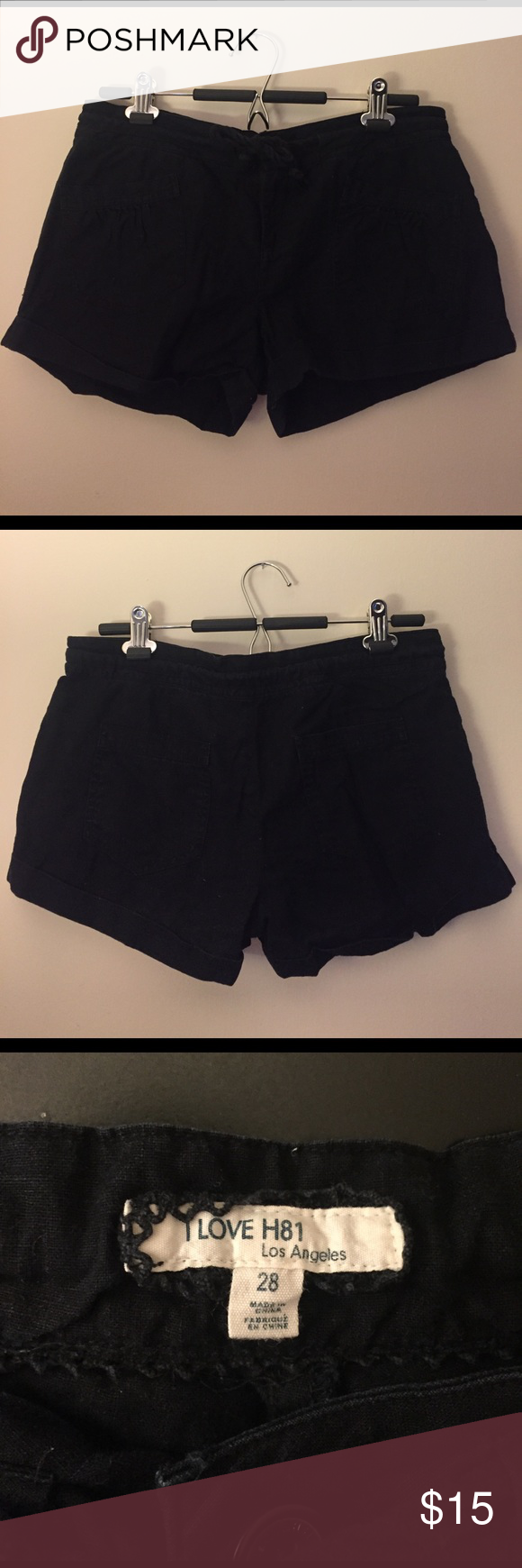 Forever 21 Black Cotton Shorts Forever 21 Black Cotton Shorts, size 28. EUC, perfect for summer! Forever 21 Shorts