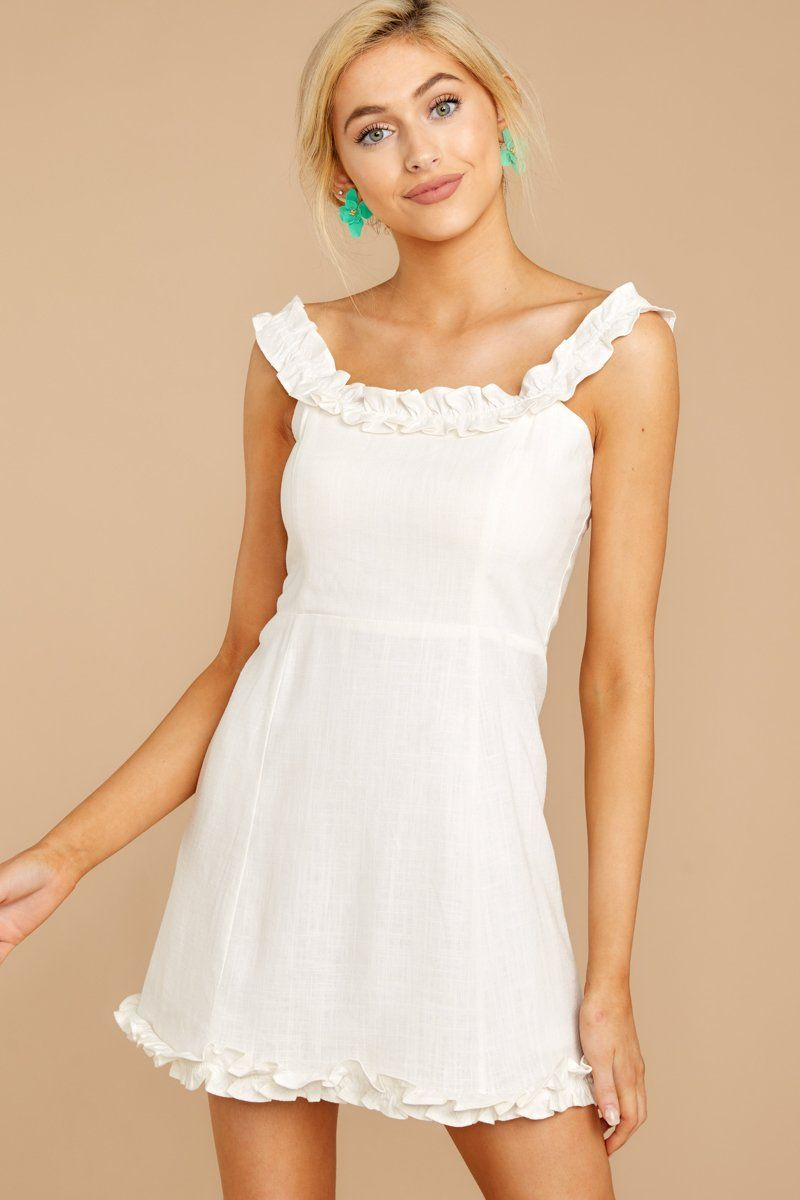 Adorable White Sun Dress Short Ruffled Dress Dress 52 00 Red Dress Red Dress Women Dresses White Sundress [ 1200 x 800 Pixel ]
