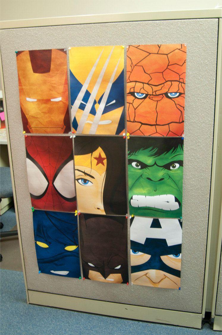 Superhero Room Design: DIGITAL DOWNLOAD Assorted Superhero Posters