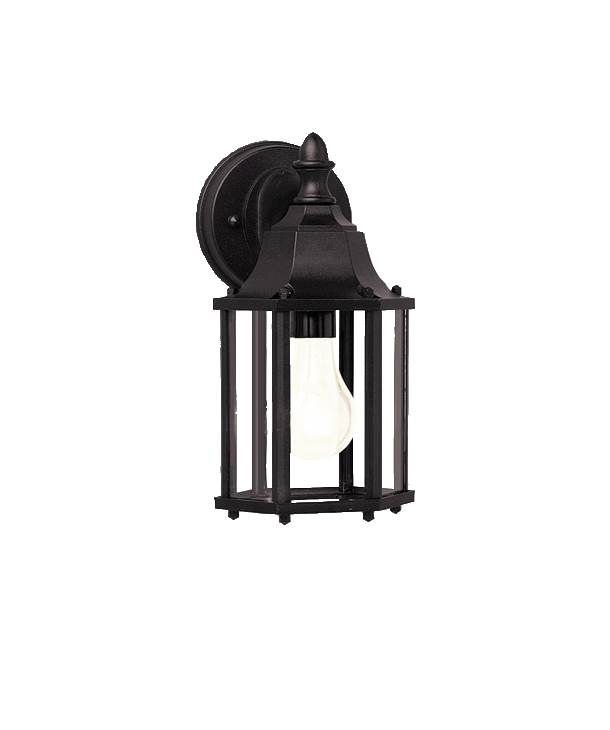 """1 light Outdoor 10.5"""" wall lamp in Black finish - Chesapeake Collection"""