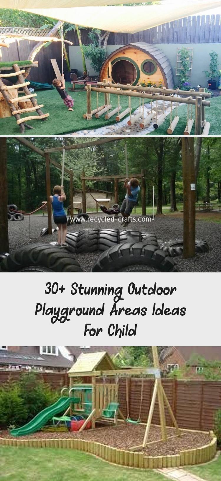 30 Stunning Outdoor Playground Areas Ideas For Child Areas Child Ideas Naturalplaygrou Playground Areas Outdoor Playground Outdoor Play Areas