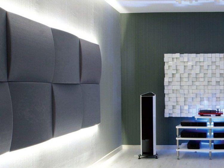 panneau acoustique d coratif en 30 designs mur et plafond audio pinterest panneaux. Black Bedroom Furniture Sets. Home Design Ideas