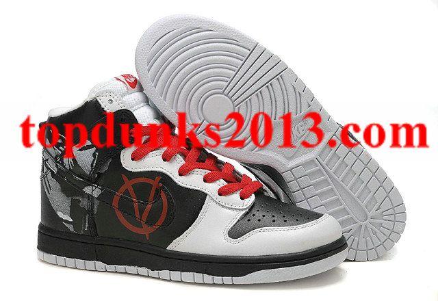 Original V For Vendetta Nike Dunk High Top Men  46f5270db