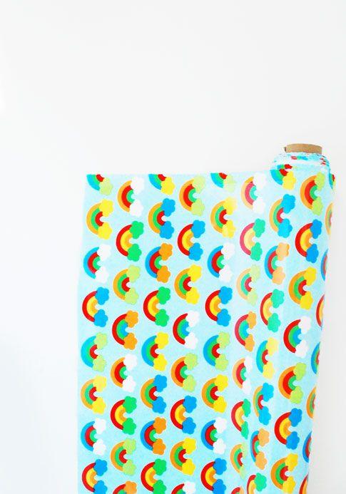 new rainbow slicker fabric / ann kelle