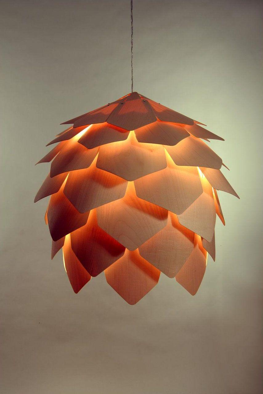 Wood pendant light crimean pinecone lamp wooden pendant lighting lamps aloadofball Gallery