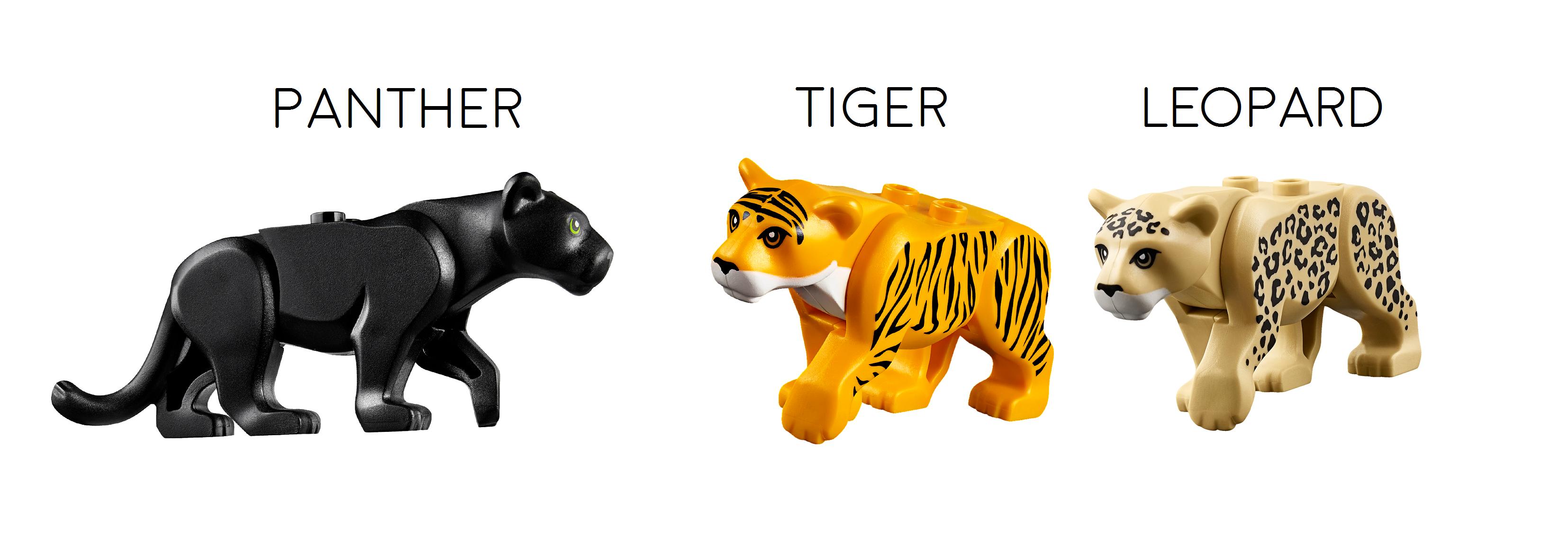 LEGO LEOPARD ~ Authentic Minifigure Minifig Big Cat Jungle Zoo Animal  ** NEW **