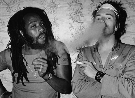 "MANLEY AUGUSTUS ""BIG YOUTH"" BUCHANAN with JOHN ""JOHNNY ROTTEN"" LYDON..."