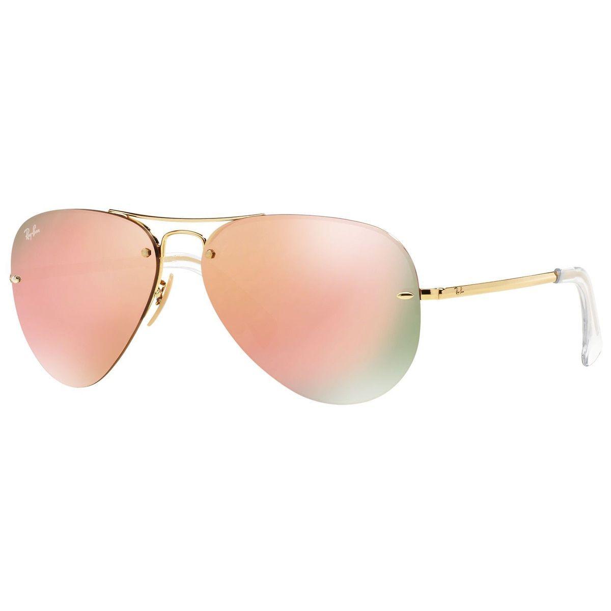86002cc38a Ray-Ban RB3449 001 2Y Unisex Gold Frame Copper Mirror Lens Sunglasses ( RB3449 001 2Y 59)
