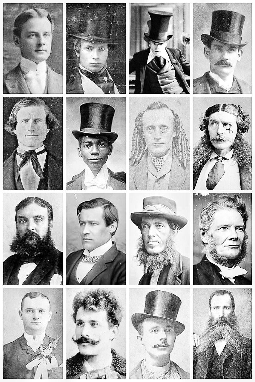 Victorian Men S Hairstyles Facial Hair A The Vintage Thimble Victorian Hairstyles Victorian Men Mens Facial Hair Styles