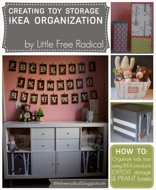 Diy creating toy storage with ikea expedit prant boxes - Ikea almacenamiento ninos ...