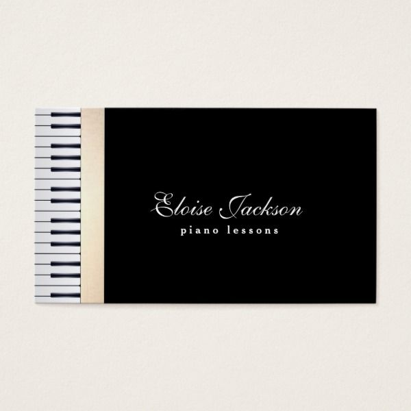 Music teacher piano lessons business card custom professional music teacher piano lessons business card custom professional business cards for teachers and tutors teacher reheart Images
