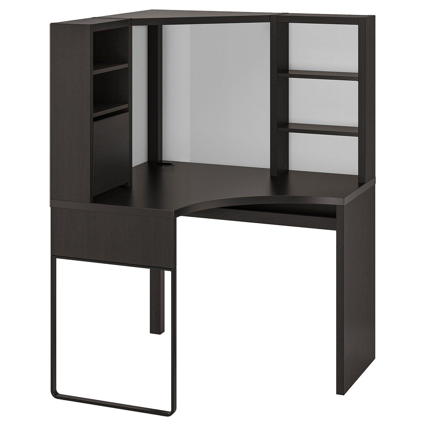 Micke Corner Workstation Black Brown 39 3 8x55 7 8 Ikea Corner Workstation Ikea Micke Loft Bed Frame