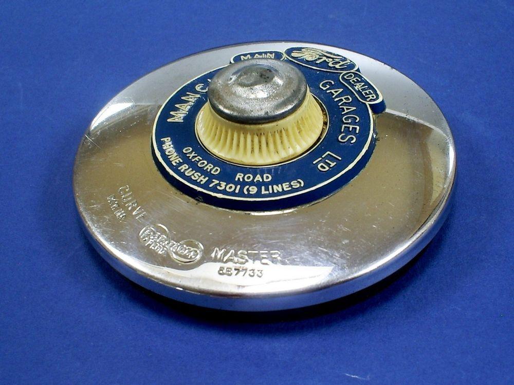 Vintage barnacle curve master chrome car tax disc holder/manchester ...