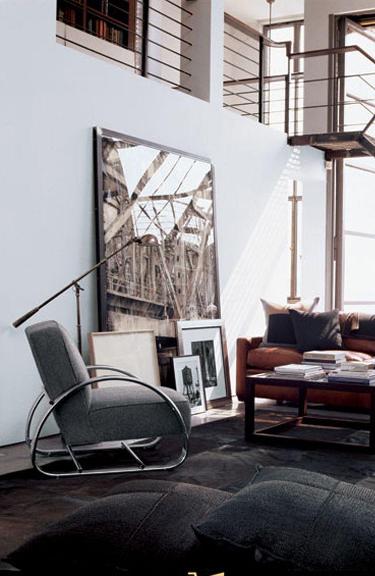 Urban Living Room: Ralph Lauren Home's Hudson Street Lounge Chair Is A Chic