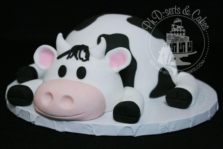 Close Up Of Cow Smash Cake Kids Birthdays Pinterest Smash
