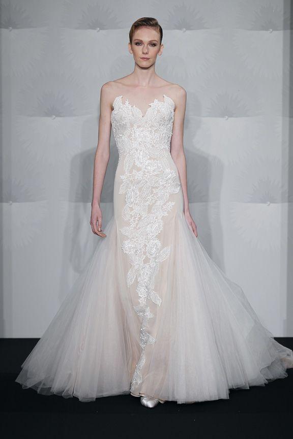 Bridal Gowns: Mark Zunino Mermaid Wedding Dress with Sweetheart ...