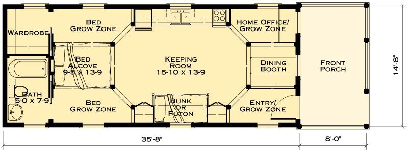 katrina cottage viii fairfax sales plan finished area 523 sf greek - Katrina Cottage Plans