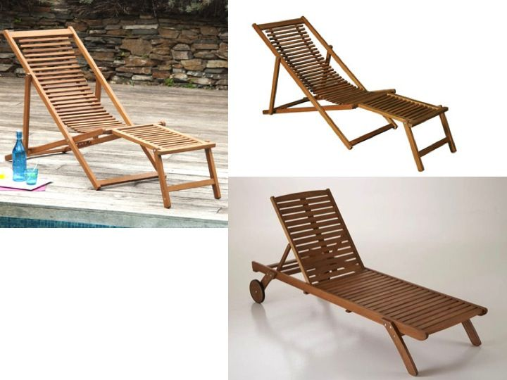 chaise longue transat bois - Transat En Bois