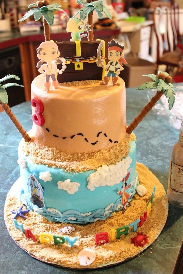 jake and the neverland pirate cakes Jake Party Pinterest