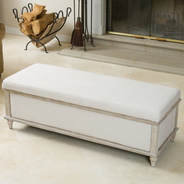 Louisa Upholstered Storage Bench   For the Home   Pinterest