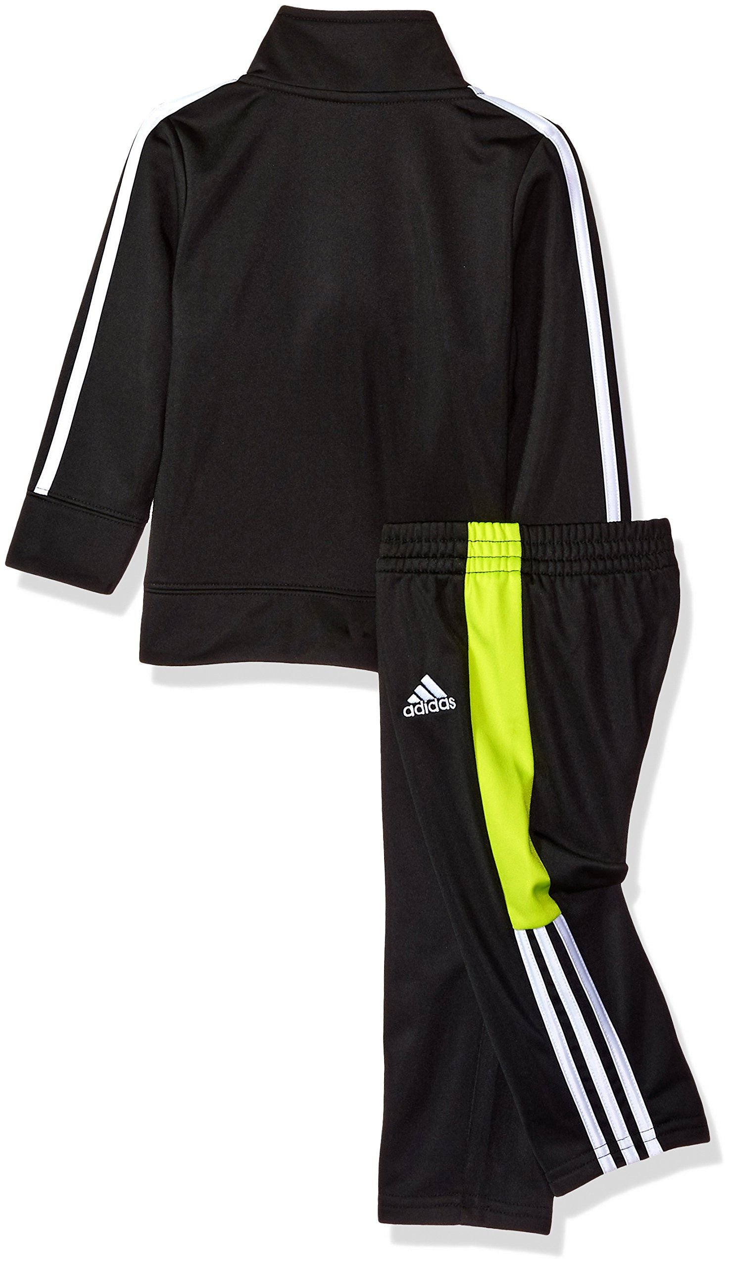 23f2c161b adidas Baby Boys Colorblock Tricot Tracksuit 2Piece Set Black/Neon 3 Months  ** Information can be discovered by clicking the photo.