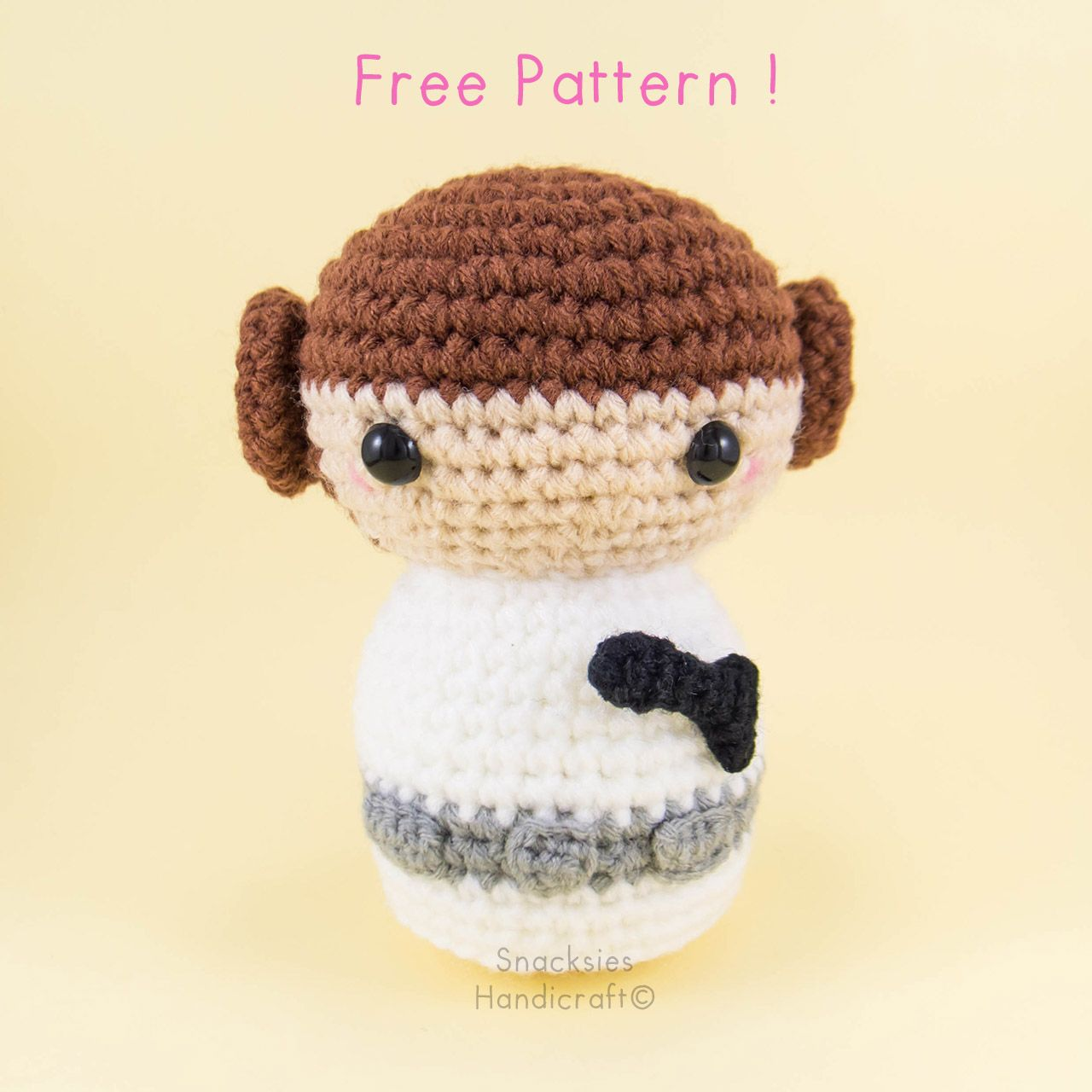 A blog about handmade crafts especially crocheted toys amigurumi princess leia amigurumi pattern free crochet pattern by snacksies bankloansurffo Images