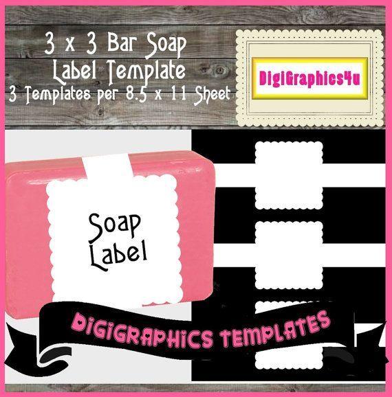 Printable Soap Label Template Instant Download PNG Format Digital - line sheet template download