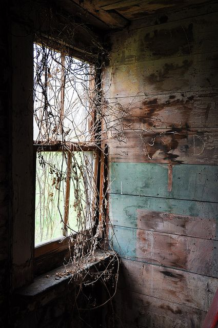 window light and a interior. Abandoned houses