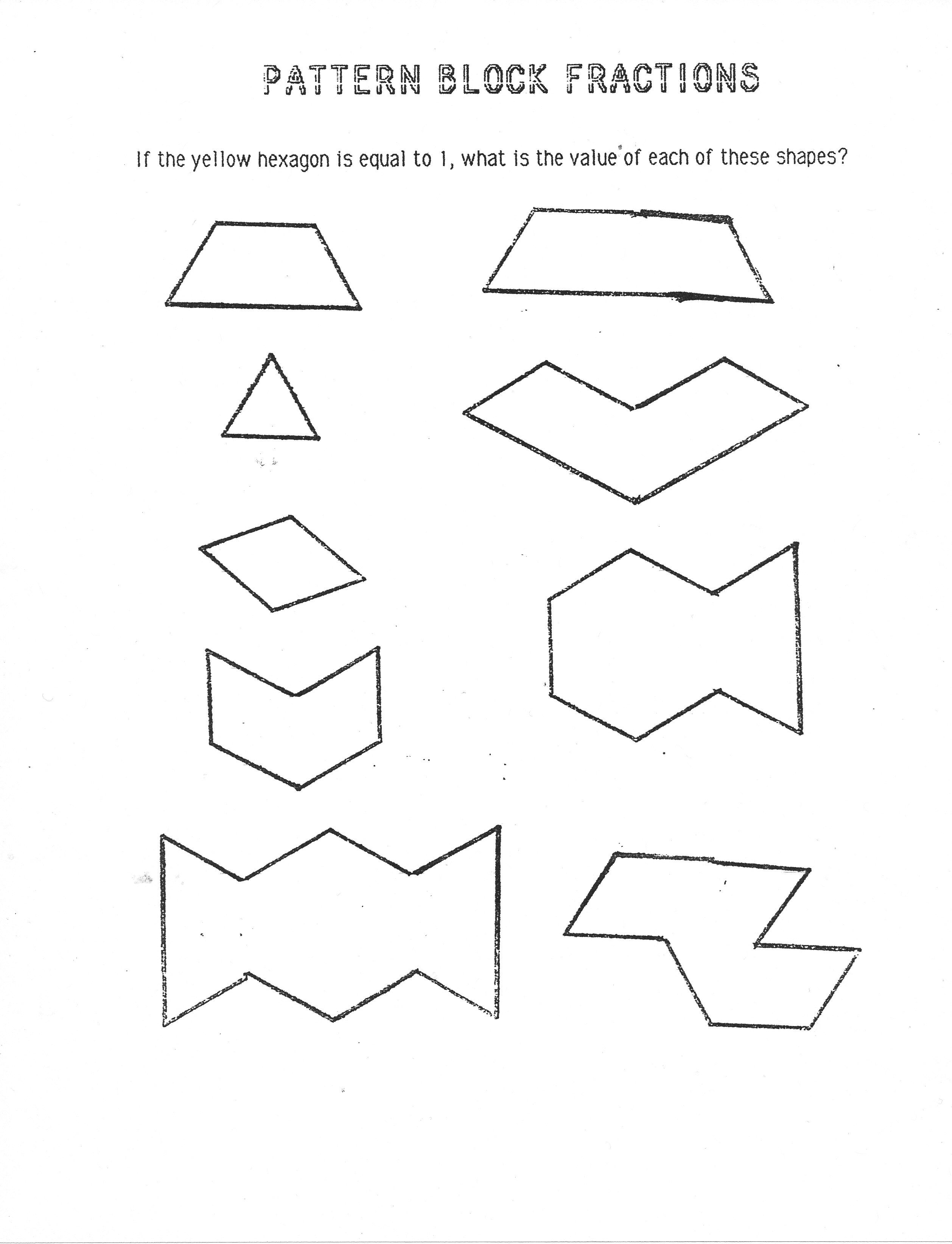 Pattern Block Worksheets 4Th Worksheets for all | Download and ...