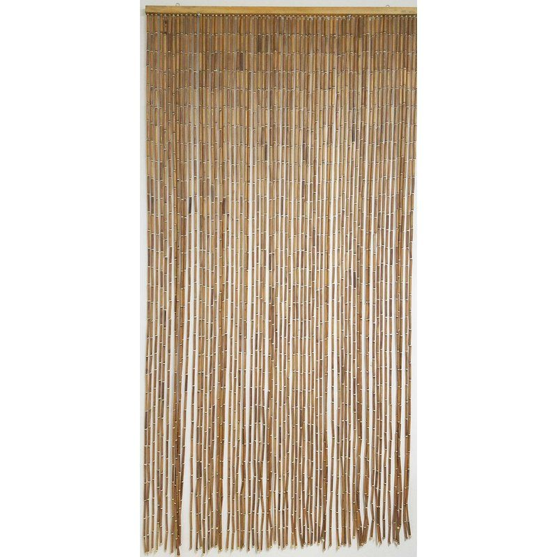 Evideco Doorway Beaded Sticks Wooden Single Curtain Panel