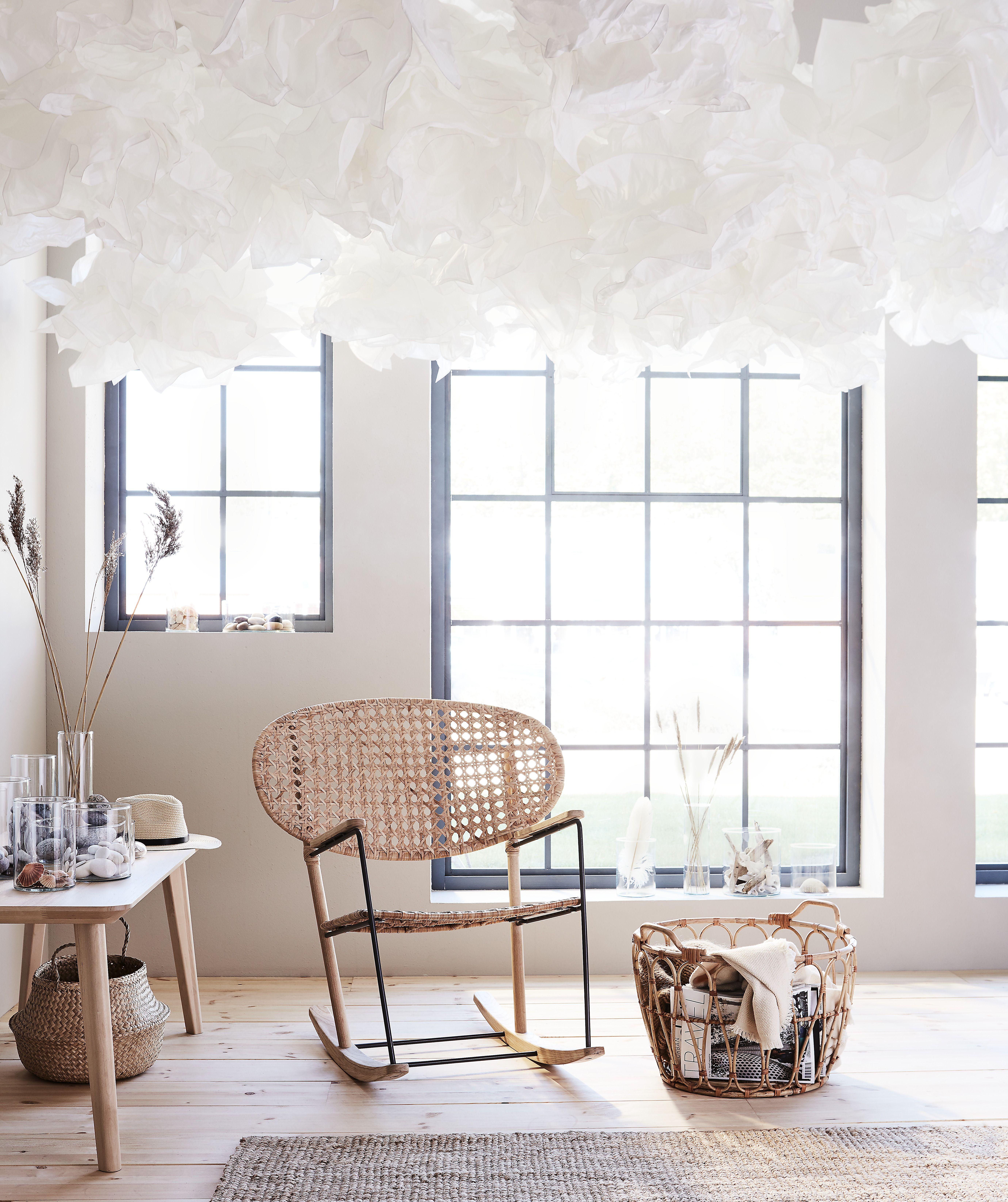Schaukelstuhl Grönadal Grau Naturfarben Interior Ikea Decor