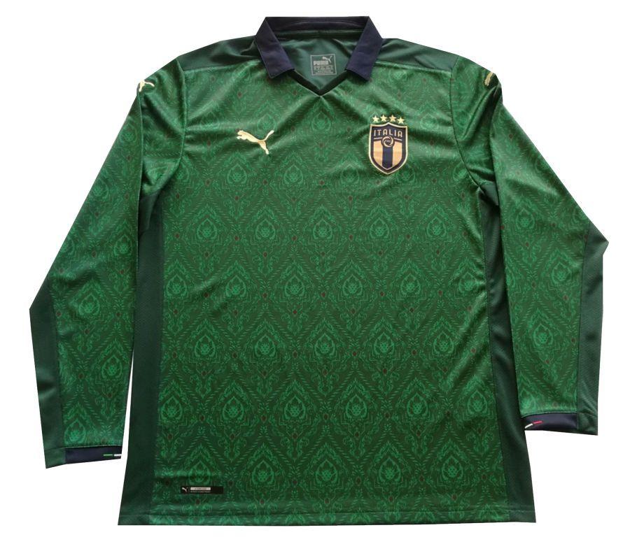 2020 Euro Italy Third Away Long Sleeve Soccer Jersey Shirt In 2020 Jersey Shirt Soccer Jersey Soccer