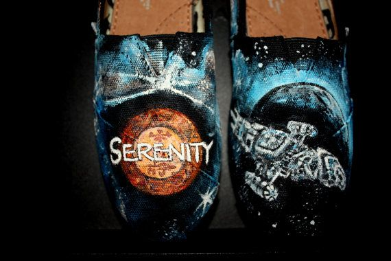 41615e87d4c33 Serenity Firefly Toms shoes Hand painted This size 6 or any size 1-3 ...