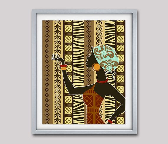 African woman art afrocentric wall iqstudio elisi pinterest and painting also rh